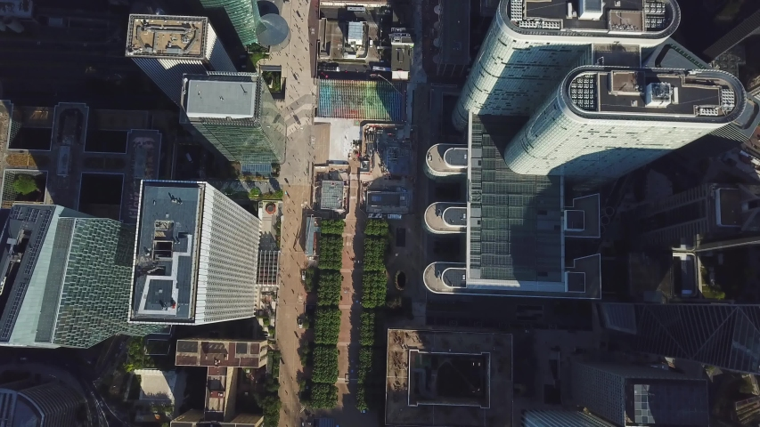 France, Paris. Aerial top view of the beautiful cityscape. Drone flying city buildings.  | Shutterstock HD Video #1042205623