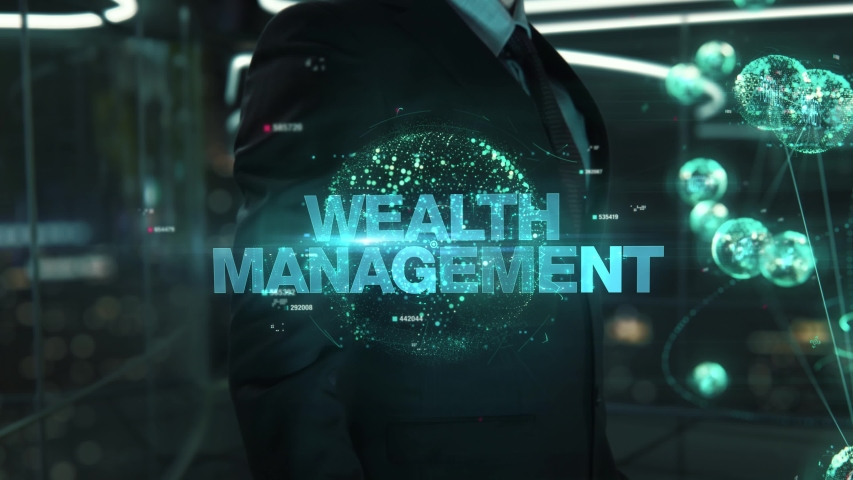 Businessman with Wealth Management hologram concept Royalty-Free Stock Footage #1042207147