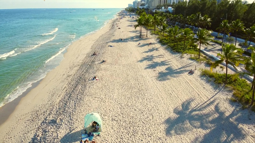 Drone footage Fort Lauderdale Beach   Shutterstock HD Video #1042226974