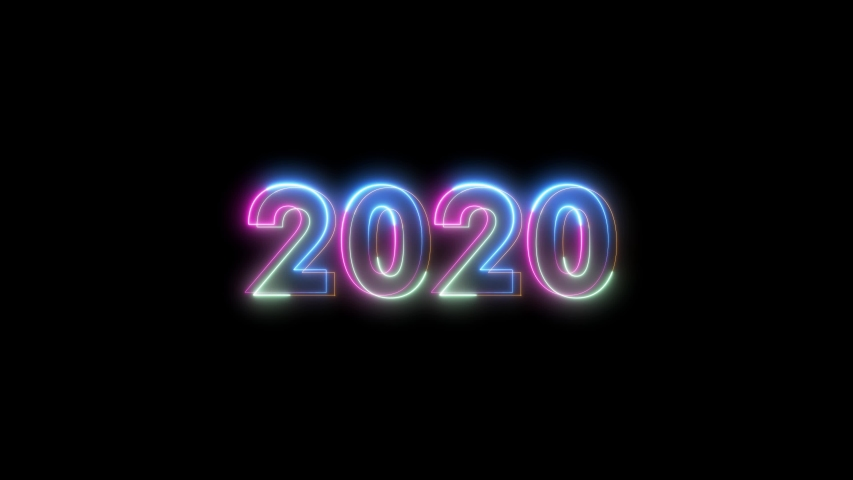 2020 4k Video Animation Neon Lights | Shutterstock HD Video #1042268254