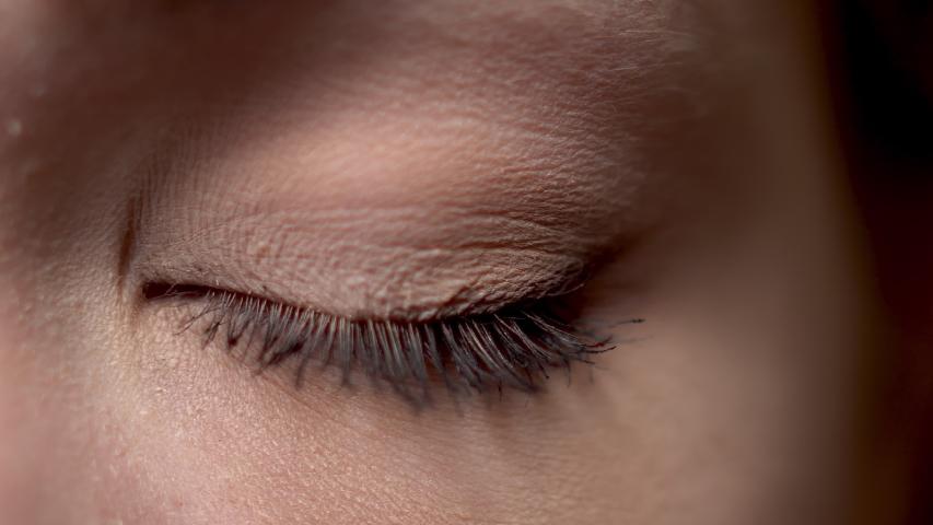 Infrared scan of half females face. IR camera. Skin care   Shutterstock HD Video #1042274695
