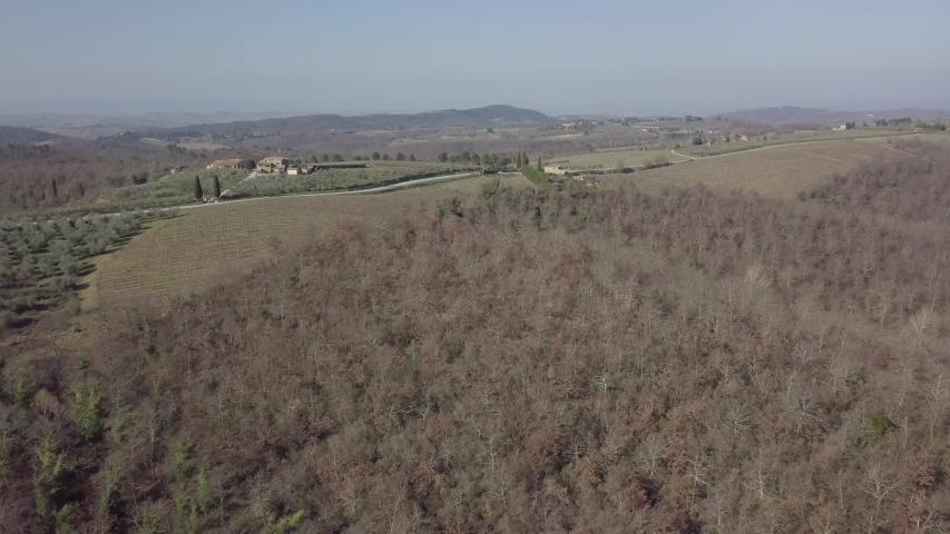 Drone flying over a landscape in summer | Shutterstock HD Video #1042347556