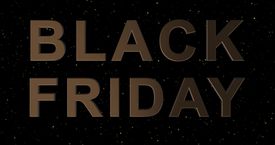 Black Friday advertisement with golden sign and black balloons, background 4k animation seamless loop   Shutterstock HD Video #1042449052