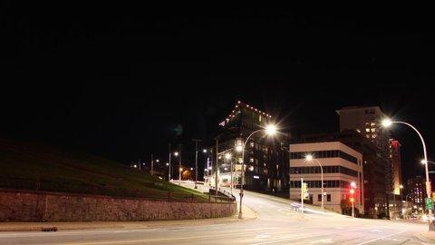 Halifax, Nova Scotia- Traffic Timelapse (Gottingen & Brunswick Streets)