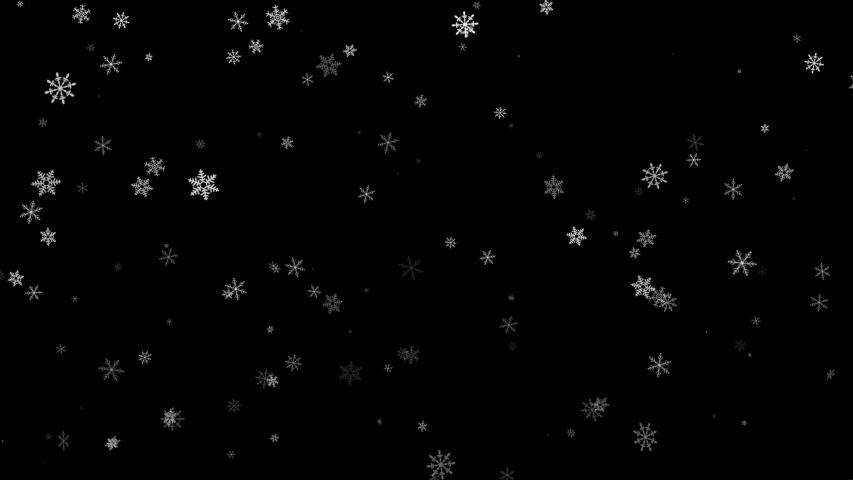Falling down snowflakes - loop   Shutterstock HD Video #1042519510