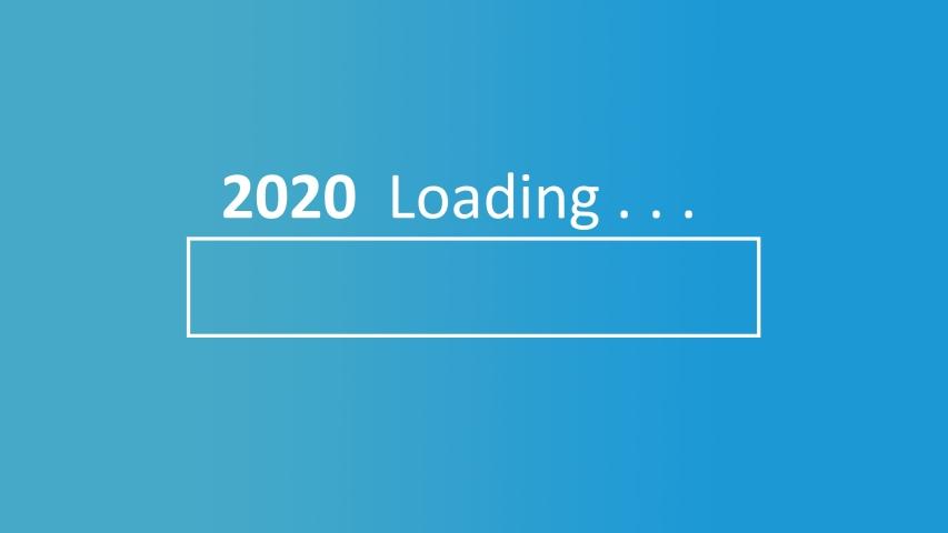 2020 Loading 4k video with Pc loading screen | Shutterstock HD Video #1042543384