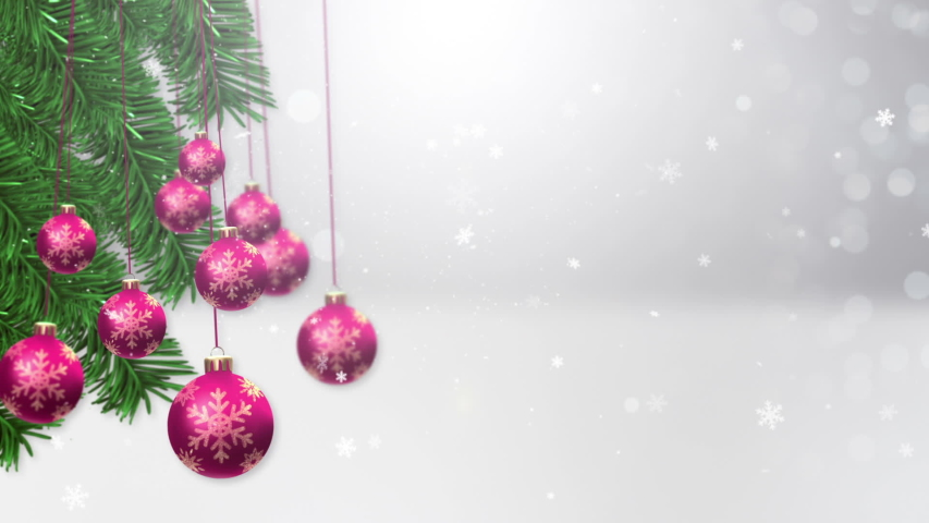 Video of christmas baubles Background | Shutterstock HD Video #1042574671