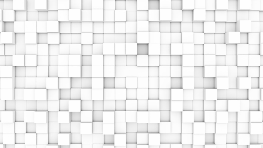 White 3d cubes frame growing and decreasing | Shutterstock HD Video #1042586020