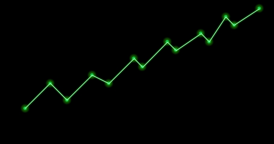 Green line as graph moving up on black background   Shutterstock HD Video #1042594372