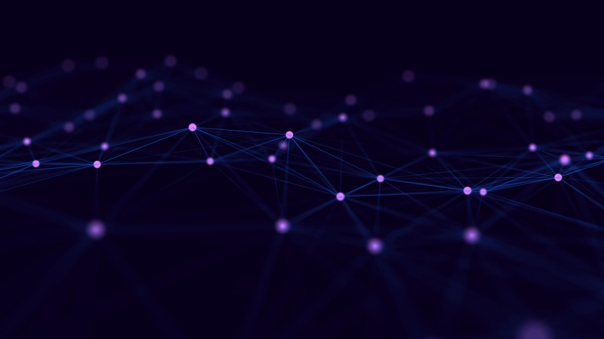 Network connection structure. Big data digital background. Science background with connected dots and lines. 3d rendering. | Shutterstock HD Video #1042654459