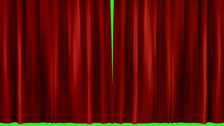 Red velvet luxurious curtain opening on a performance stage with green screen background | Shutterstock HD Video #1042656355