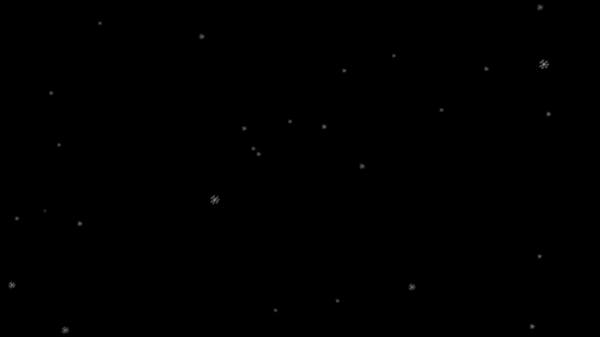 Flying large snowflakes on black background HD 1920x1080   Shutterstock HD Video #1042698688