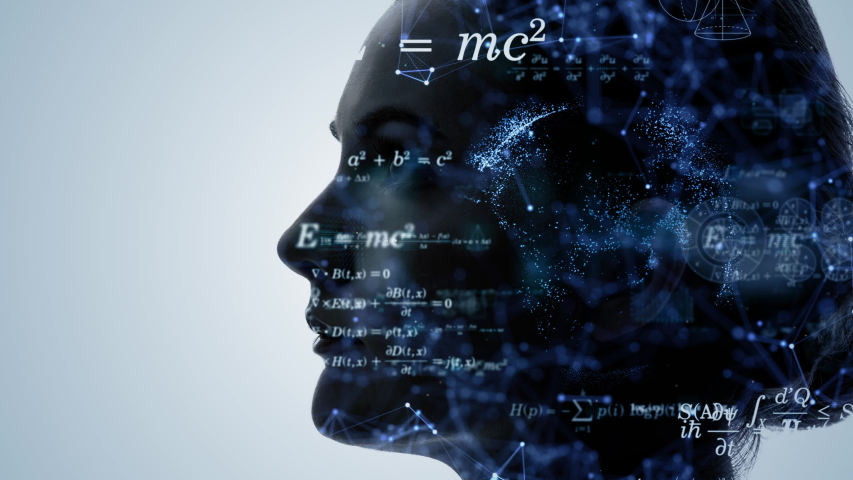 AI (Artificial Intelligence) concept. Science technology. | Shutterstock HD Video #1042773262