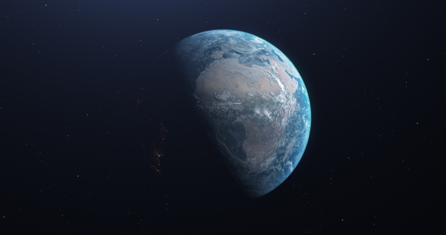 Earth planet asteroid planet meteor planet earth space asteroid space meteor space earth trajectory asteroid trajectory meteor trajectory earth impact asteroid impact meteor impact hit collision view  | Shutterstock HD Video #1042776220