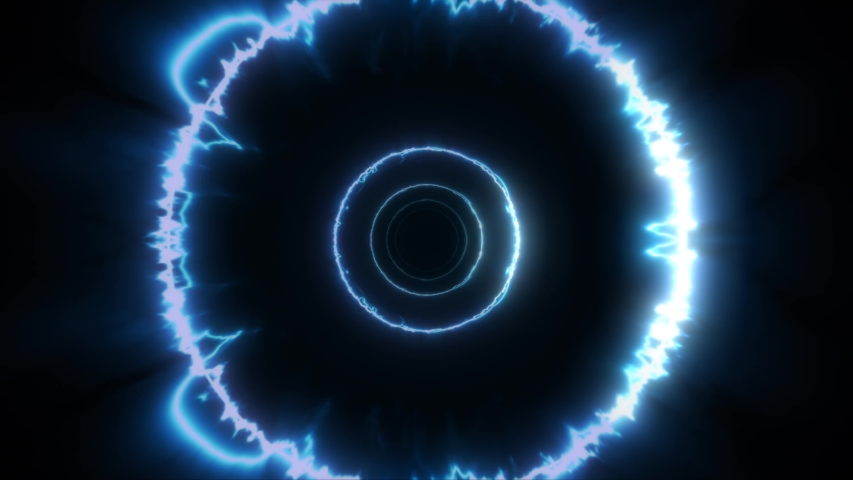Power Energy Textured 3d Vortex Background Loop/ 4k animation of an abstract background with energy circles seamless looping