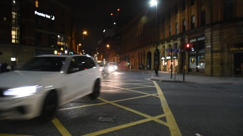 Lower Mosley Street At Manchester England 2019