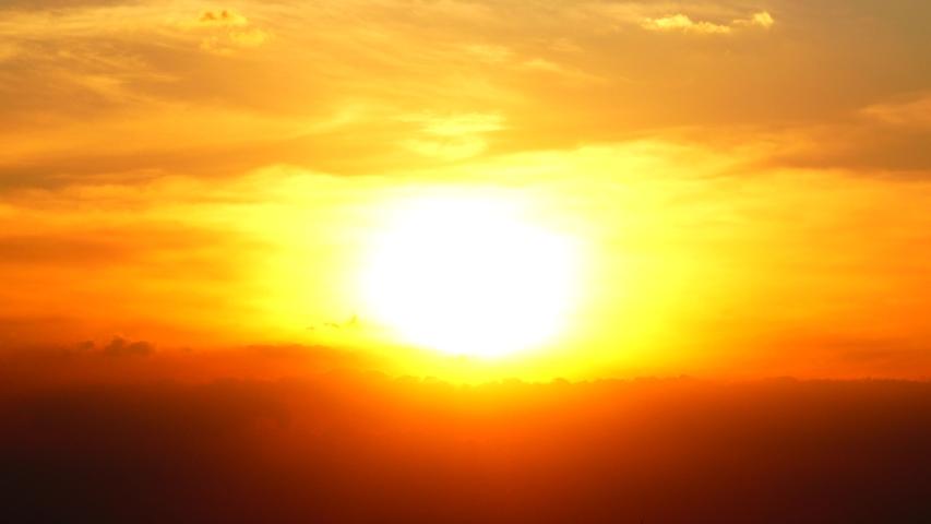 4K Sunset Twilight orange yellow sky blue the beautiful purple nature background | Shutterstock HD Video #1042977208