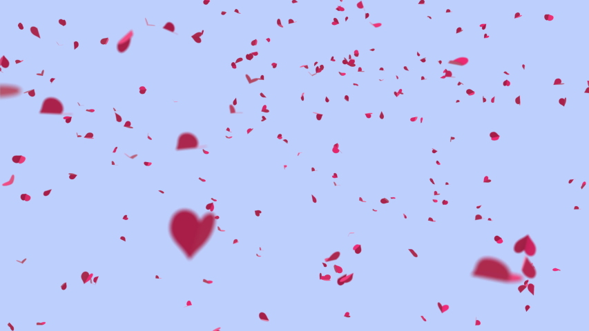 Romantics digital motion gentle pink paper hearts spinning in a whirlwind like dancing  | Shutterstock HD Video #1042987195