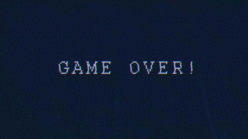 Game over high tech intro title animated text | Shutterstock HD Video #1042989061