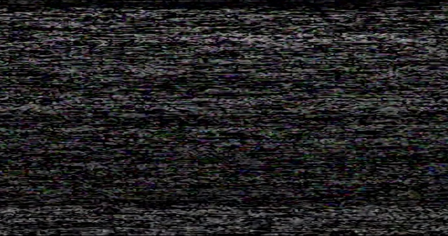 Old VHS Glitches and Static Noise on the black Background. TV Noise Footage, analog signal with bad interference | Shutterstock HD Video #1043022610