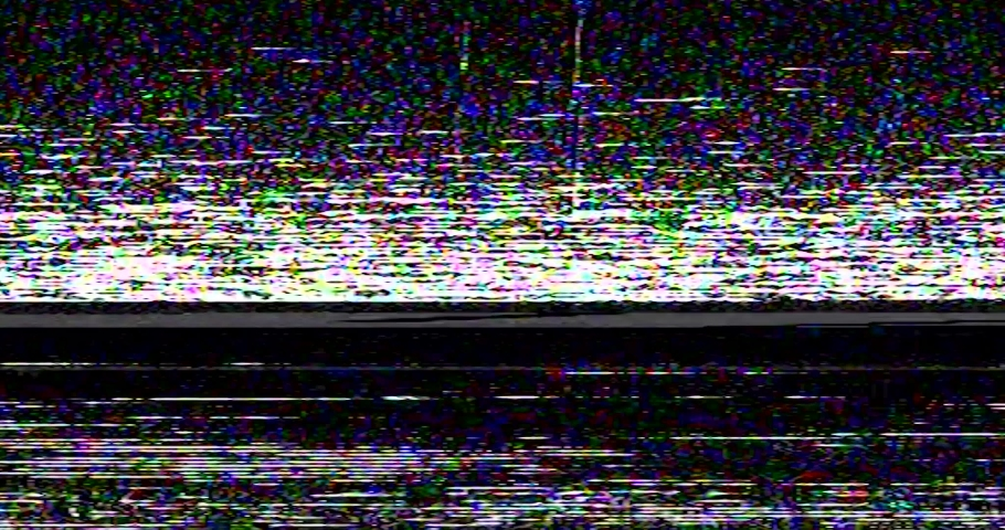 Old VHS Glitches and Static Noise on the black Background. TV Noise Footage, analog signal with bad interference | Shutterstock HD Video #1043022613