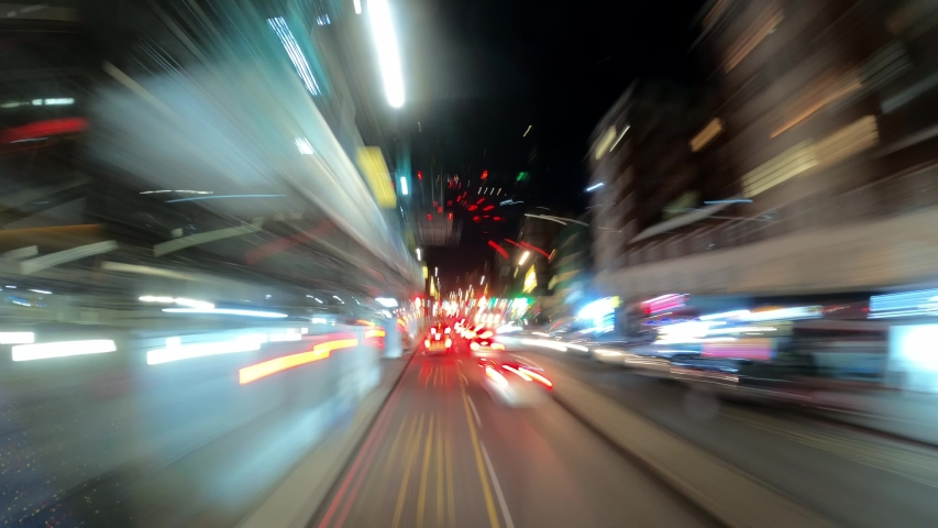 Driiving through London - night timelapse - LONDON, UNITED KINGDOM - DECEMBER 10, 2019 | Shutterstock HD Video #1043041549