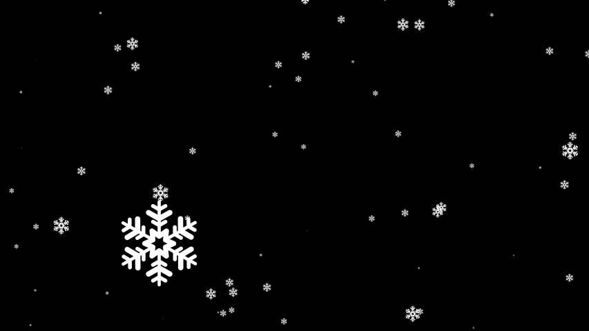 Winter snow with falling snowflakes on black background   Shutterstock HD Video #1043054065