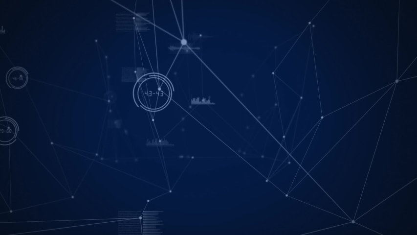 Animation of countdown from ten to zero with network of connections on blue background | Shutterstock HD Video #1043058307