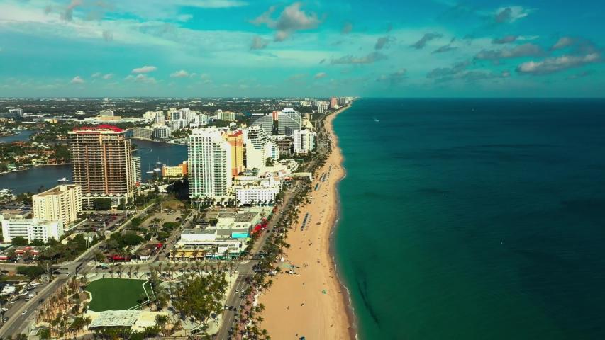 Beauty Beach aerials Fort Lauderdale FL 4k   Shutterstock HD Video #1043236528
