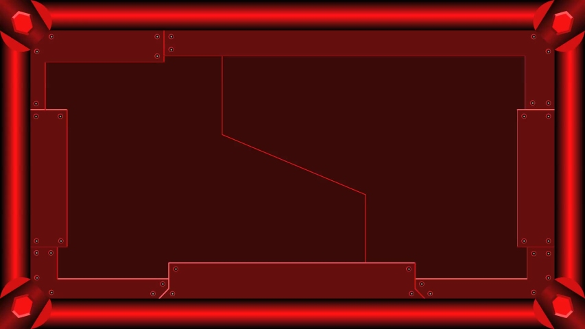 Animation of opening and closing red-black sci-fi gate with frame and green blank space for movie template.   Shutterstock HD Video #1043236606