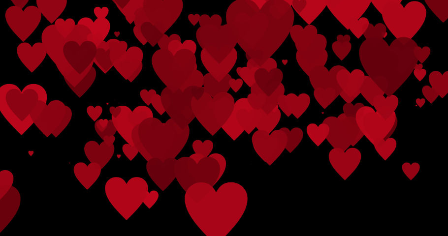 Four different video transition with red glossy hearts. Heart transparent glossy transition with alpha channel. Animated Valentines, love transition includes matte. For love, weddin, romantic videos | Shutterstock HD Video #1043272726