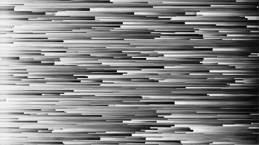 Horizontal lines pixel sorting. Black-white stripes of broken pixels. | Shutterstock HD Video #1043316826