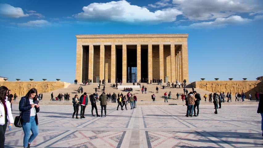 Ankara, Turkey Atatürk's Mausoleum Anitkabir Time lapse