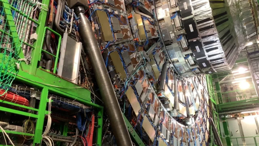 Compact Muon Solenoid (CMS), Large Hadron Collider (LHC), Particle Accelerator, Detector Layers, CERN Switzerland 14 September 2019