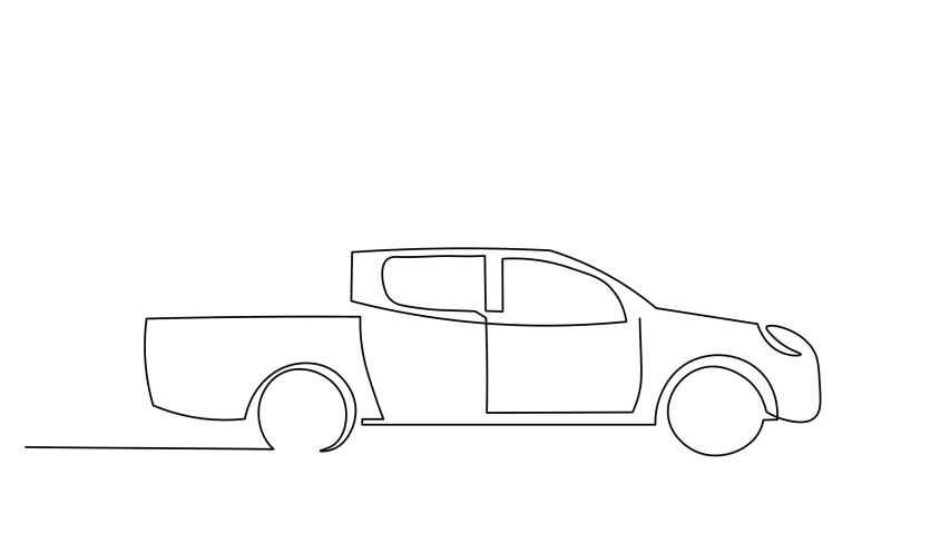Continuous line drawing of car transportation Simple lines, hand-drawn illustrations, | Shutterstock HD Video #1043378581
