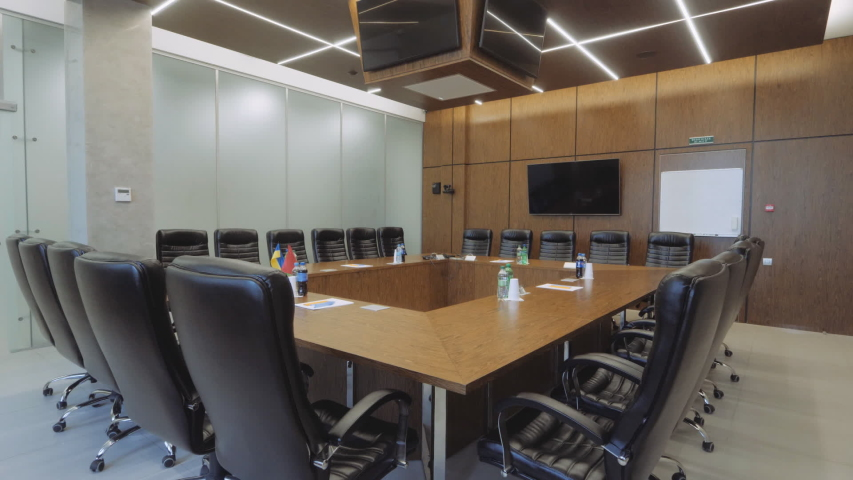 Stylish conference room. Modern furniture. | Shutterstock HD Video #1043401984