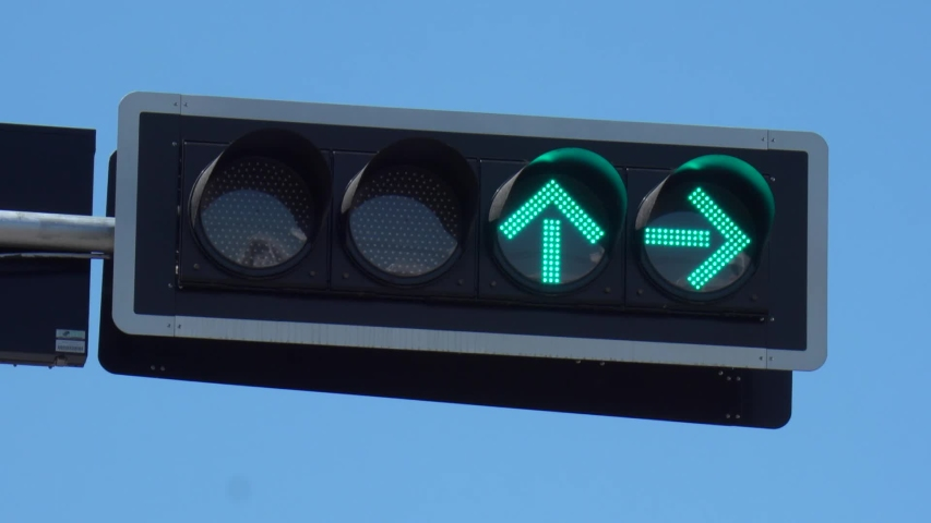 Traffic lights, red lights turn green. at Phra Kal Shrine , Lop Buri Province , Thailand. | Shutterstock HD Video #1043408725
