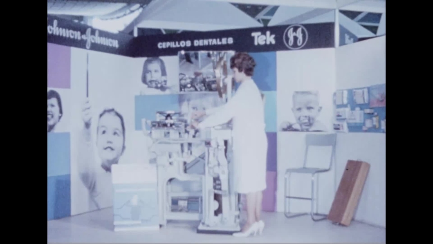 CIRCA 1964 - Machinery is demonstrated at tech pavilions at the New York's World Fair.