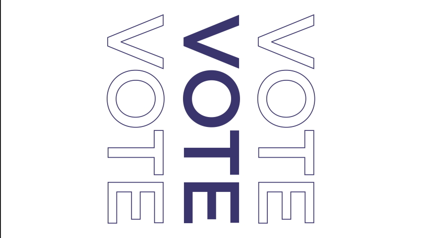 Vertical vote animated text poster. Great for billboards or social media posts rallying voters to get out there and make a difference.  | Shutterstock HD Video #1043635933