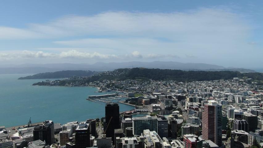 Wellington, North Island / New Zealand - December 30, 2019: The landmarks and cityscape around Wellington, the capital of New Zealand