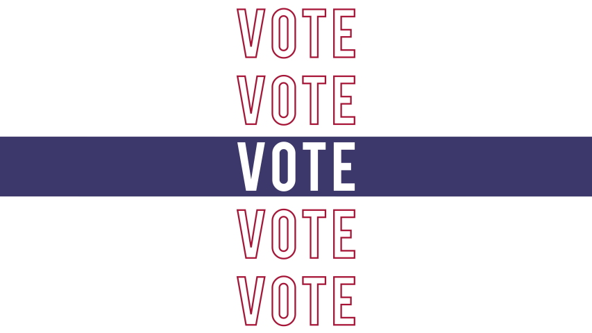 Vote 2020 US Presidential Elections Kinetic text with room for your message at the end. Great for social media campaign ad.  | Shutterstock HD Video #1043824465