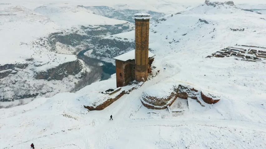 Ani Ruins, aerial shot. Kars | Shutterstock HD Video #1043893510