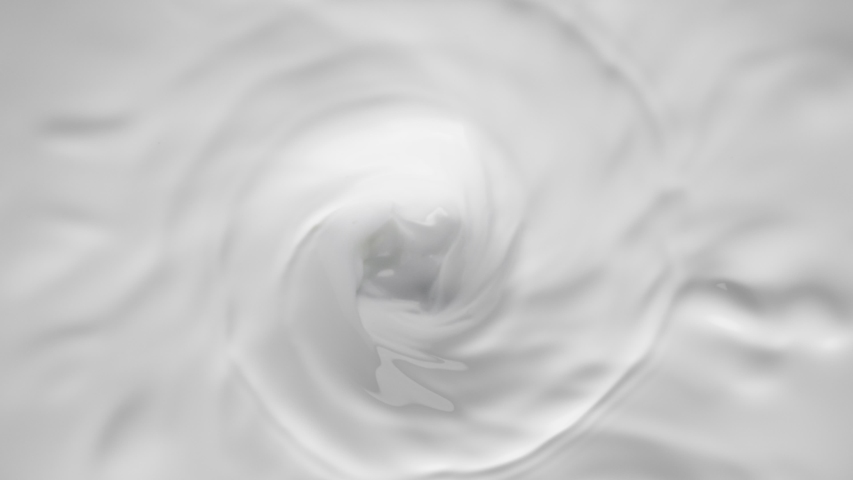 Super slow motion of milk cream. Filmed on high speed cinema camera, 1000fps. | Shutterstock HD Video #1043915566
