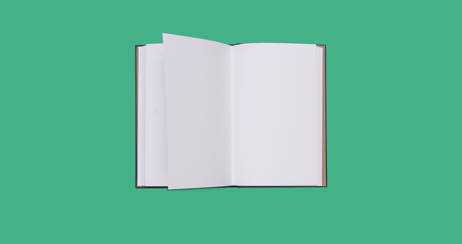 Book Animation with green screen | Shutterstock HD Video #1043973931