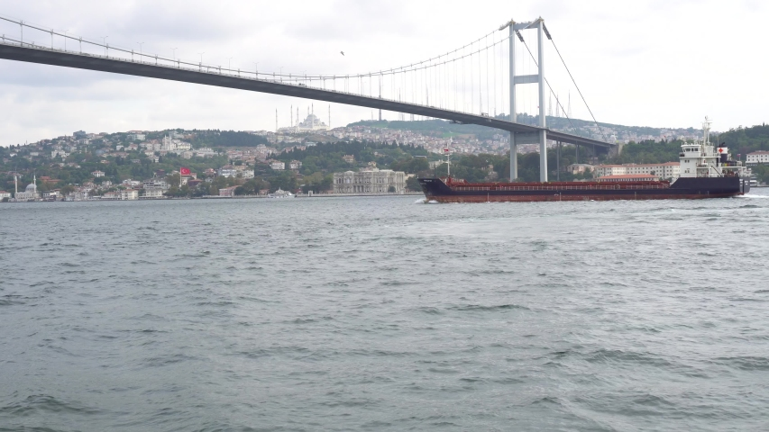 Tanker Passing The Istanbul Bosphorus | Shutterstock HD Video #1044021490