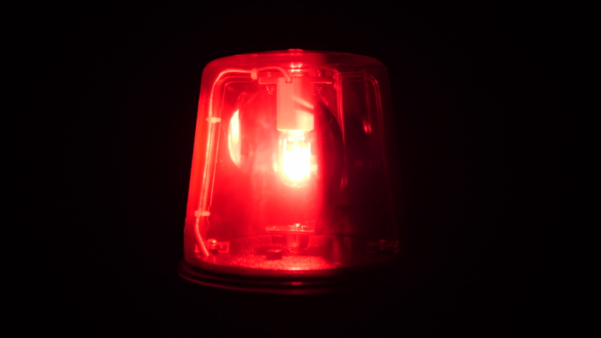 Red flashing warning light / siren - Emergency services, Ambulance, Fire, Police rotating Beacon
