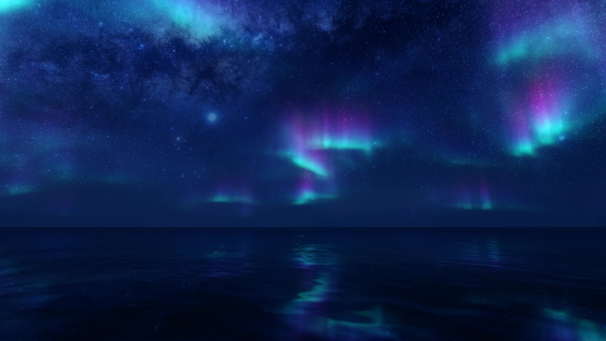 Northern lights on transparent background. Dark background. Aurora borealis pattern. Party backdrop. 3d render
