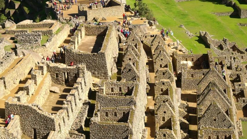 Machu Picchu in Peru in the Andes in South America | Shutterstock HD Video #1044096187