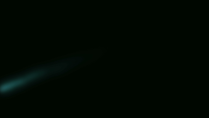 Meteor or Shooting star falling down from top of side in black background. Asteroid   | Shutterstock HD Video #1044167182