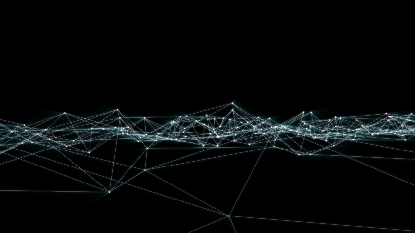 Loop Digital Data Flow Reality Futuristic Shape Animation. | Shutterstock HD Video #1044213121